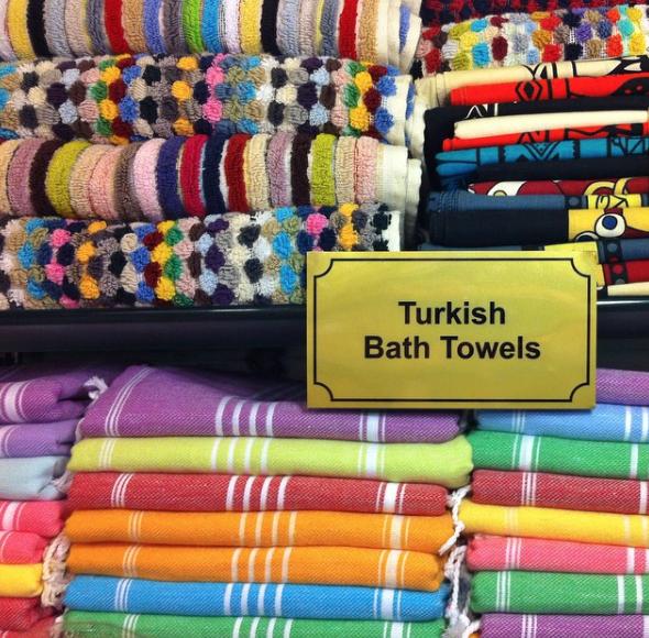 Turkish Towels in Istanbul Grand Bazaar
